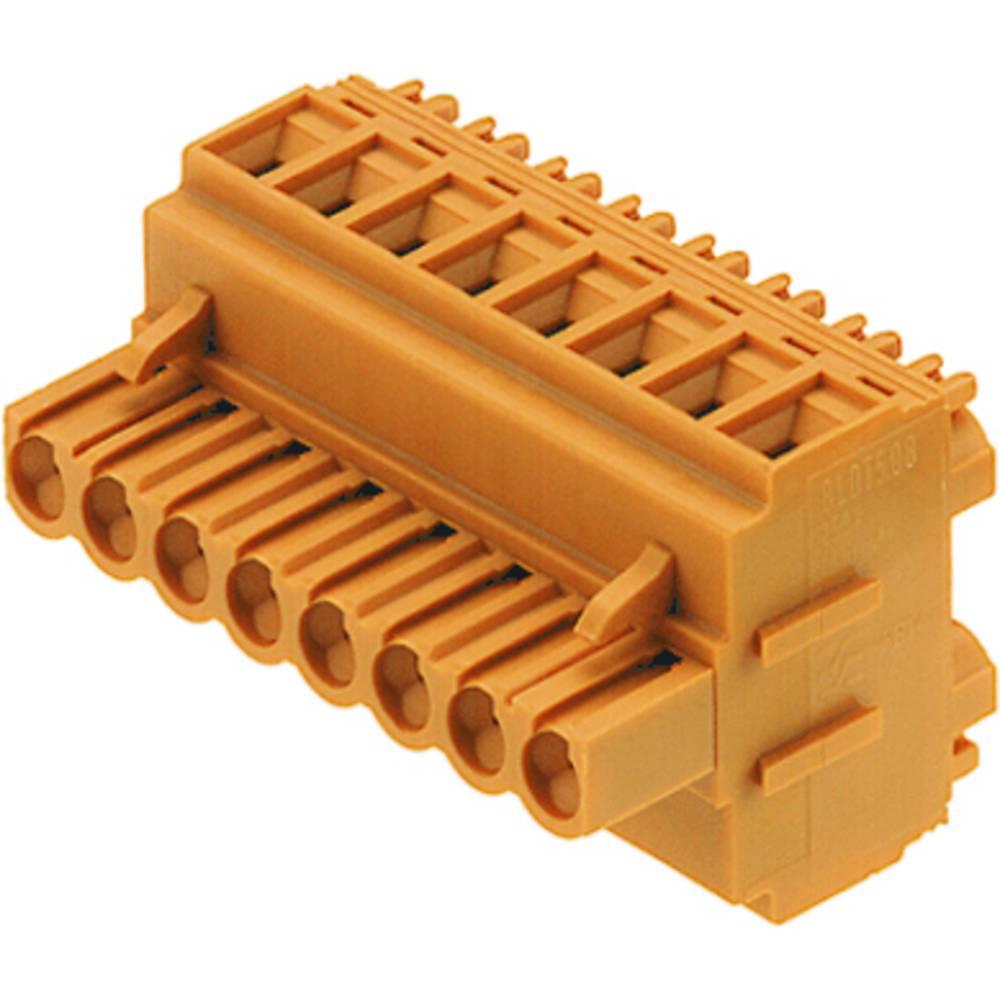 Tilslutningskabinet-kabel BL/SL 5.08 Samlet antal poler 8 Weidmüller 1651800000 Rastermål: 5.08 mm 35 stk