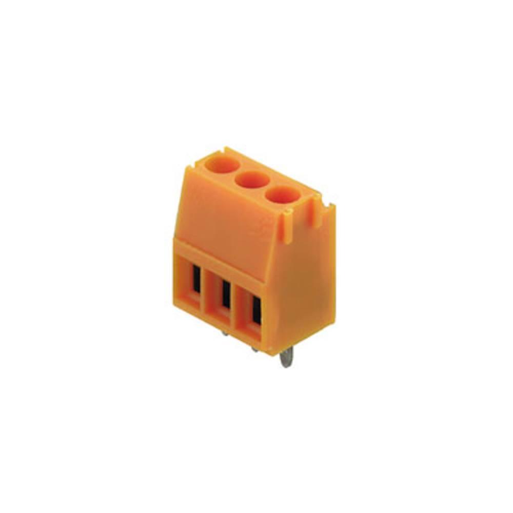 Skrueklemmeblok Weidmüller LM 3.50/05/90 3.2SN OR BX 1.50 mm² Poltal 5 Orange 100 stk