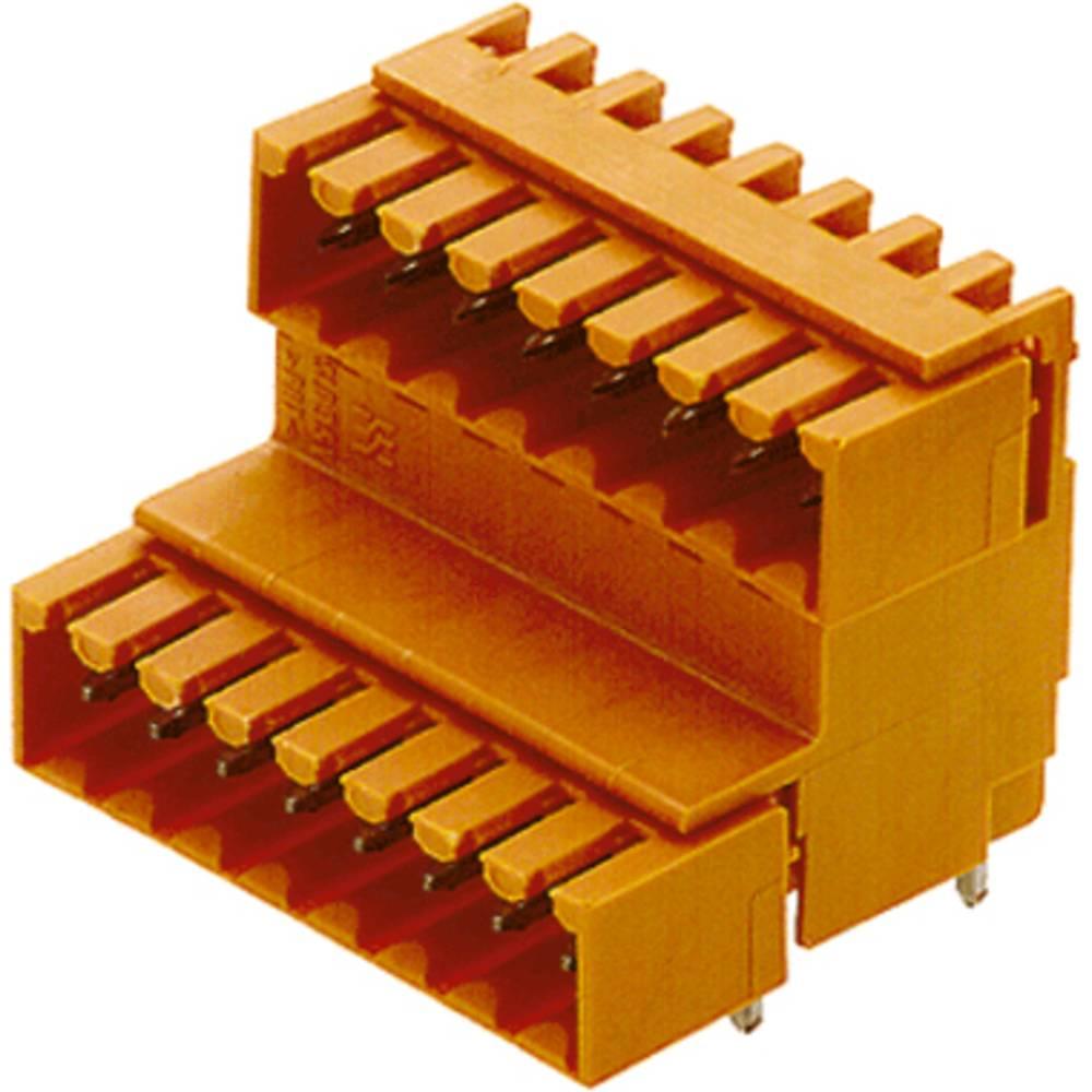 Indbygningsstiftliste (standard) Samlet antal poler 22 Weidmüller 1669650000 Rastermål: 3.50 mm 10 stk