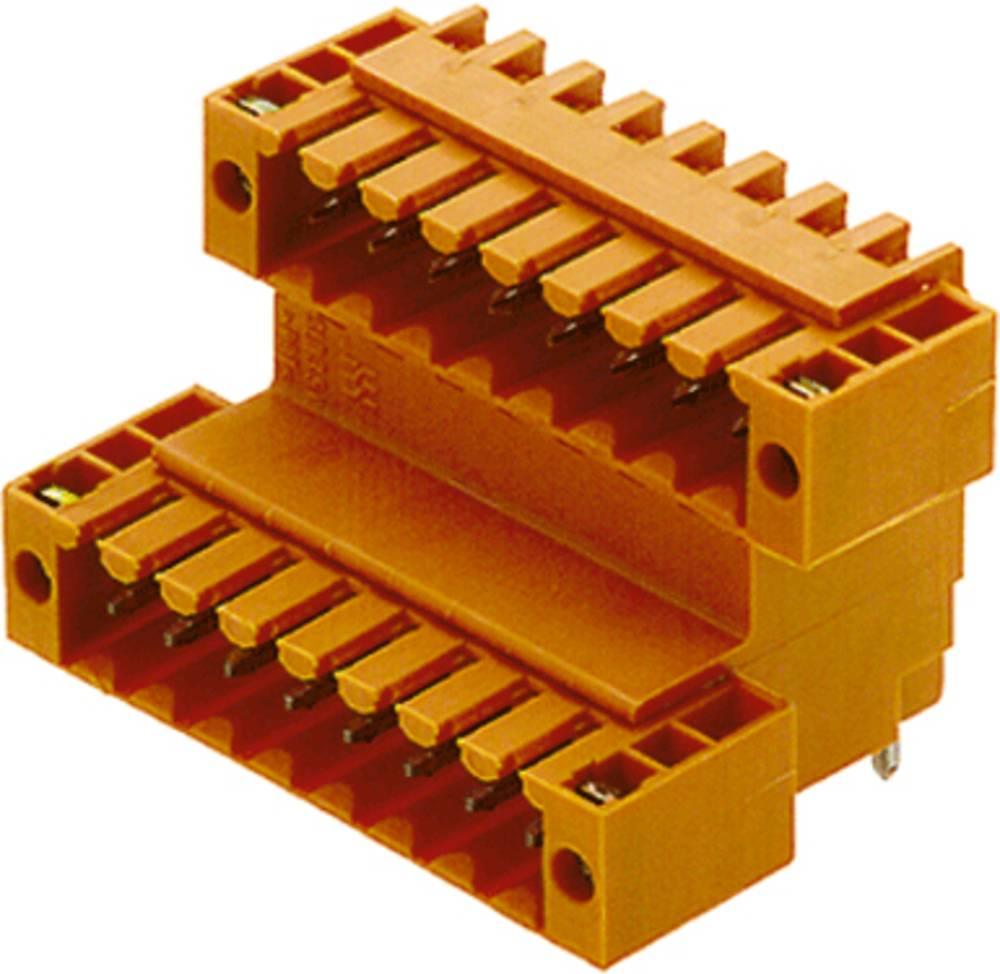 Vtični konektor za tiskana vezja oranžne barve Weidmüller 1669660000 vsebuje: 10 kosov