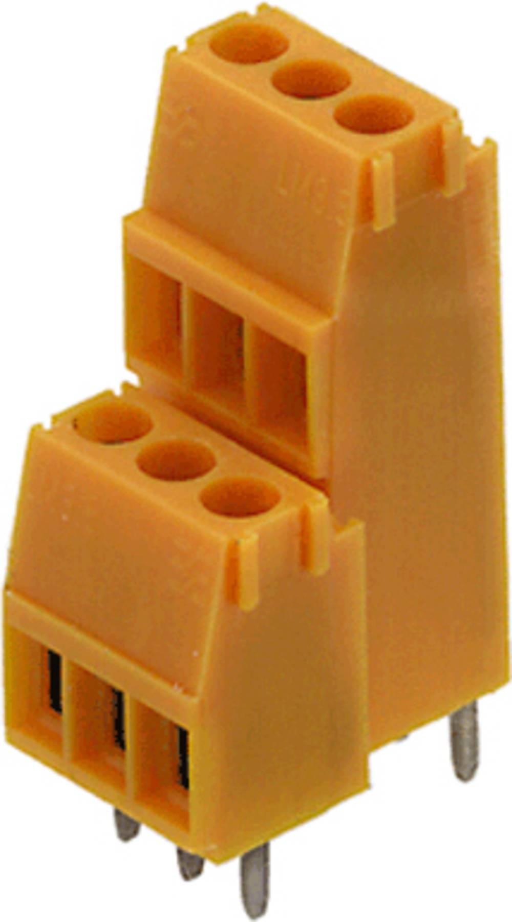 Dobbeltrækkeklemme Weidmüller LM2N 3.50/08/90 3.2SN OR BX 1.50 mm² Poltal 8 Orange 100 stk