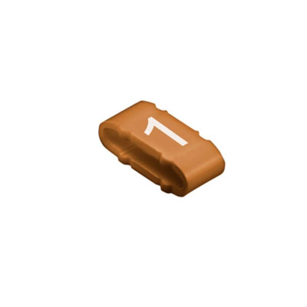 Mærkningsring Weidmüller CLI M 2-4 BR/WS 1 MP 1733651506 Brun (mat) 100 stk