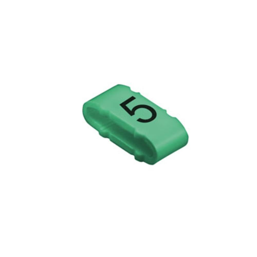 Mærkningsring Weidmüller CLI M 2-4 GN/SW 5 MP 1733651518 Grøn 100 stk