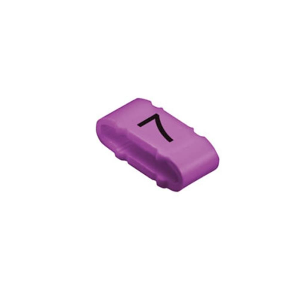 Mærkningsring Weidmüller CLI M 2-4 VI/SW 7 MP 1733651524 Violet 100 stk