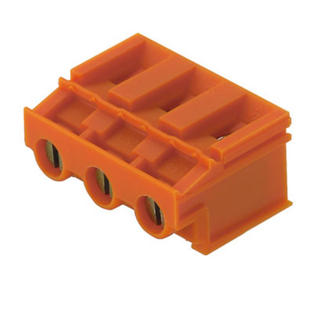 Skrueklemmeblok Weidmüller LP 7.62/03/180 3.2SN OR BX 4.00 mm² Poltal 3 Orange 100 stk