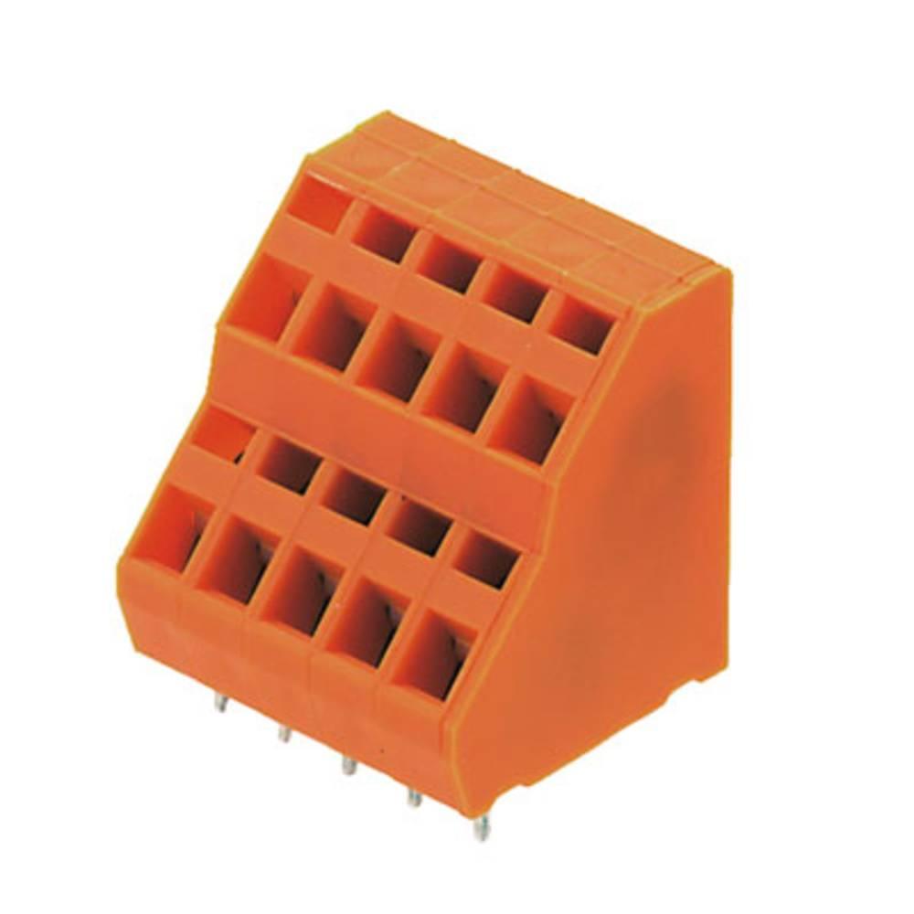 Dobbeltrækkeklemme Weidmüller LM2NZF 5.08/24/135 3.5SN OR BX 1.50 mm² Poltal 24 Orange 10 stk