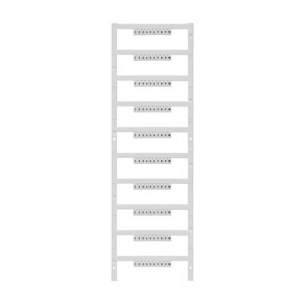 Enhed markører MultiCard DEK 5/3,5 MC FSZ 101-110 1762320101 Hvid Weidmüller 500 stk