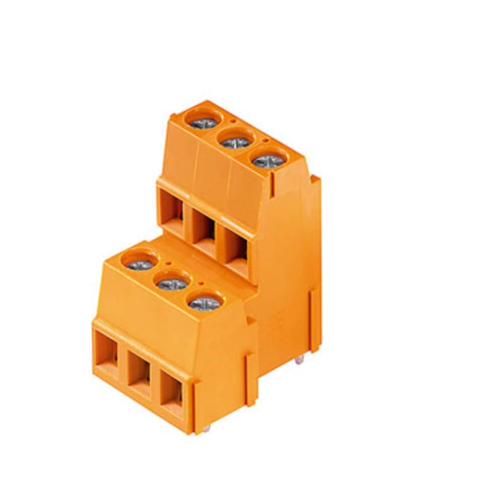 Dobbeltrækkeklemme Weidmüller LM2N 5.08/24/90 3.5SN OR BX 2.50 mm² Poltal 24 Orange 10 stk