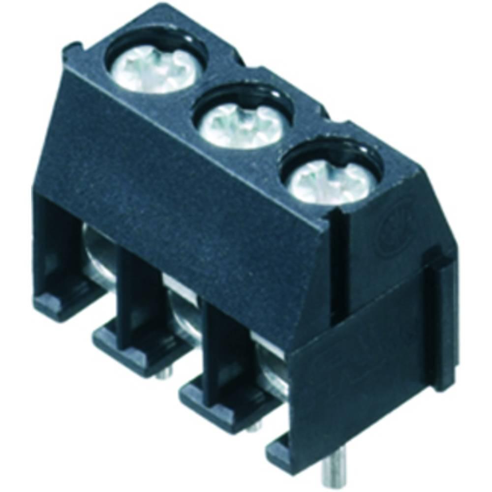 Skrueklemmeblok Weidmüller PS 3.50/03/90 3.5SN BK BX 1.50 mm² Poltal 3 Sort 100 stk