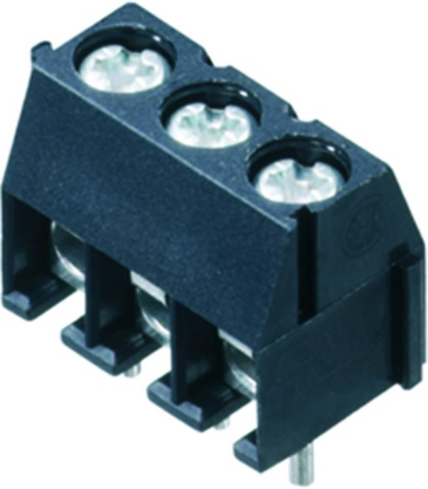 Skrueklemmeblok Weidmüller PS 3.50/07/90 3.5SN BK BX 1.50 mm² Poltal 7 Sort 100 stk
