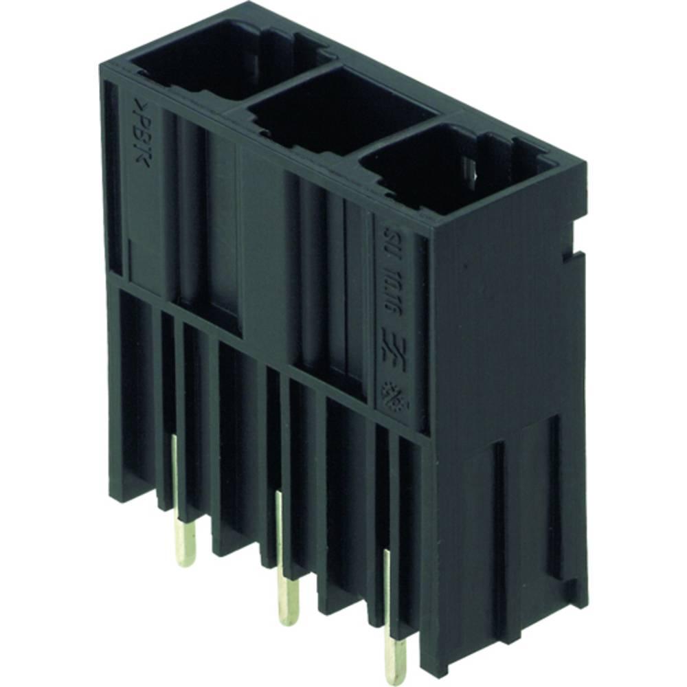 Vtični konektor za tiskana vezja črne barve Weidmüller 1813480000 vsebuje: 20 kosov