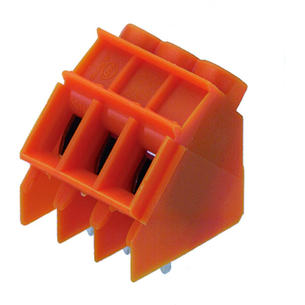 Skrueklemmeblok Weidmüller LP 5.08/05/135 3.2 OR 4.00 mm² Poltal 5 Orange 50 stk