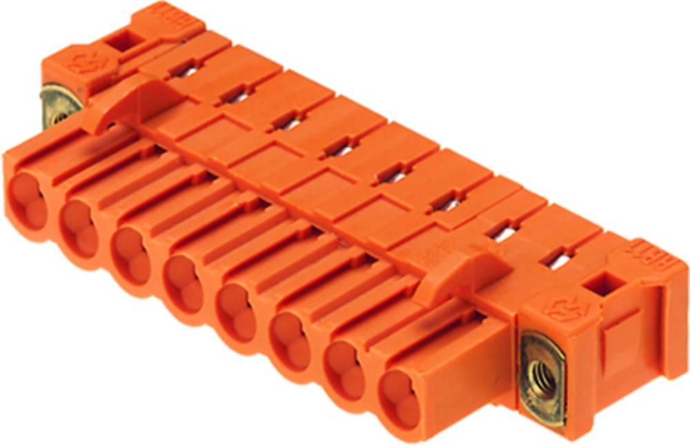 Vtični konektor za tiskana vezja oranžne barve Weidmüller 1843800000 vsebuje: 36 kosov