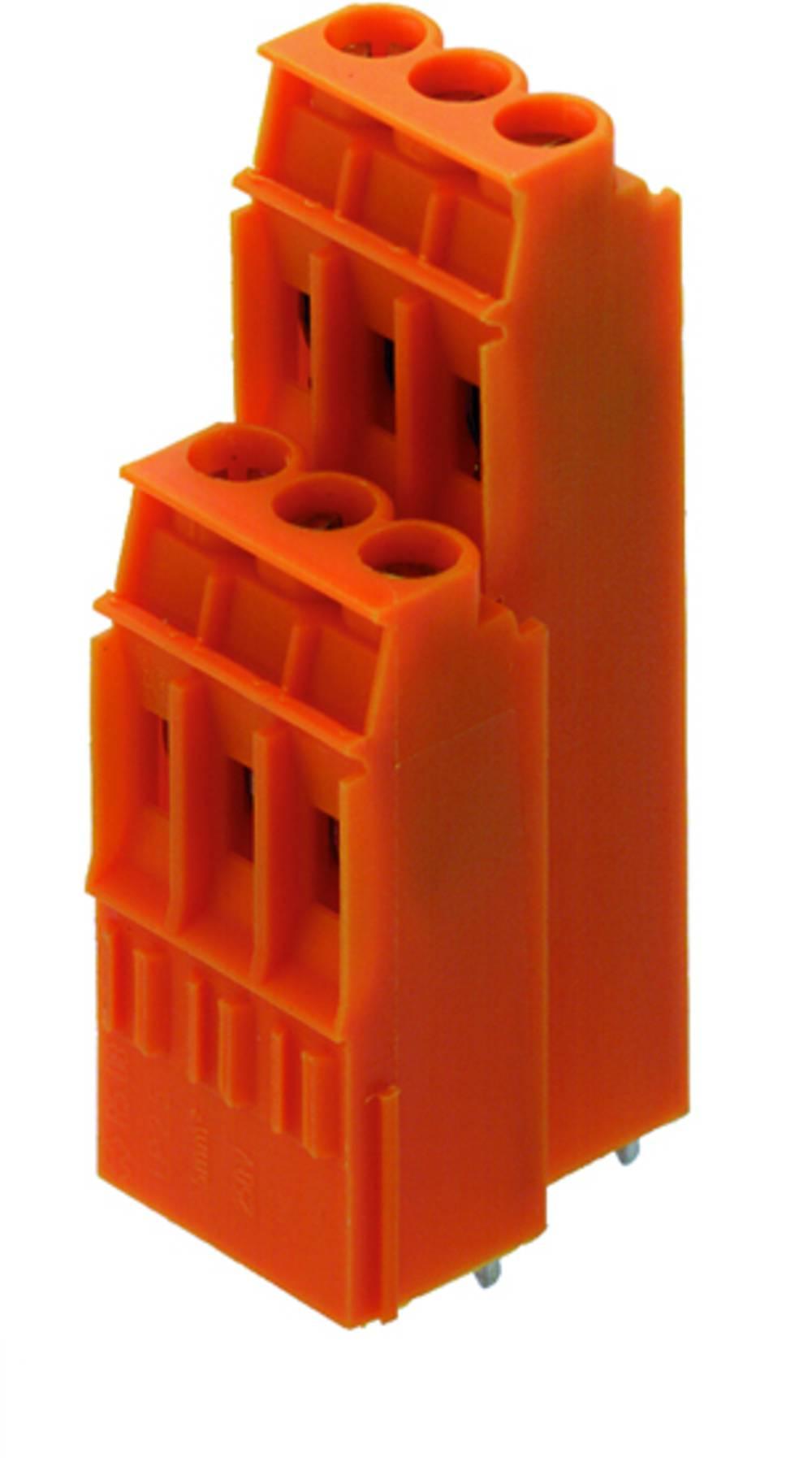 Dobbeltrækkeklemme Weidmüller LP2N 5.08/38/90 3.2SN OR BX 4.00 mm² Poltal 38 Orange 10 stk