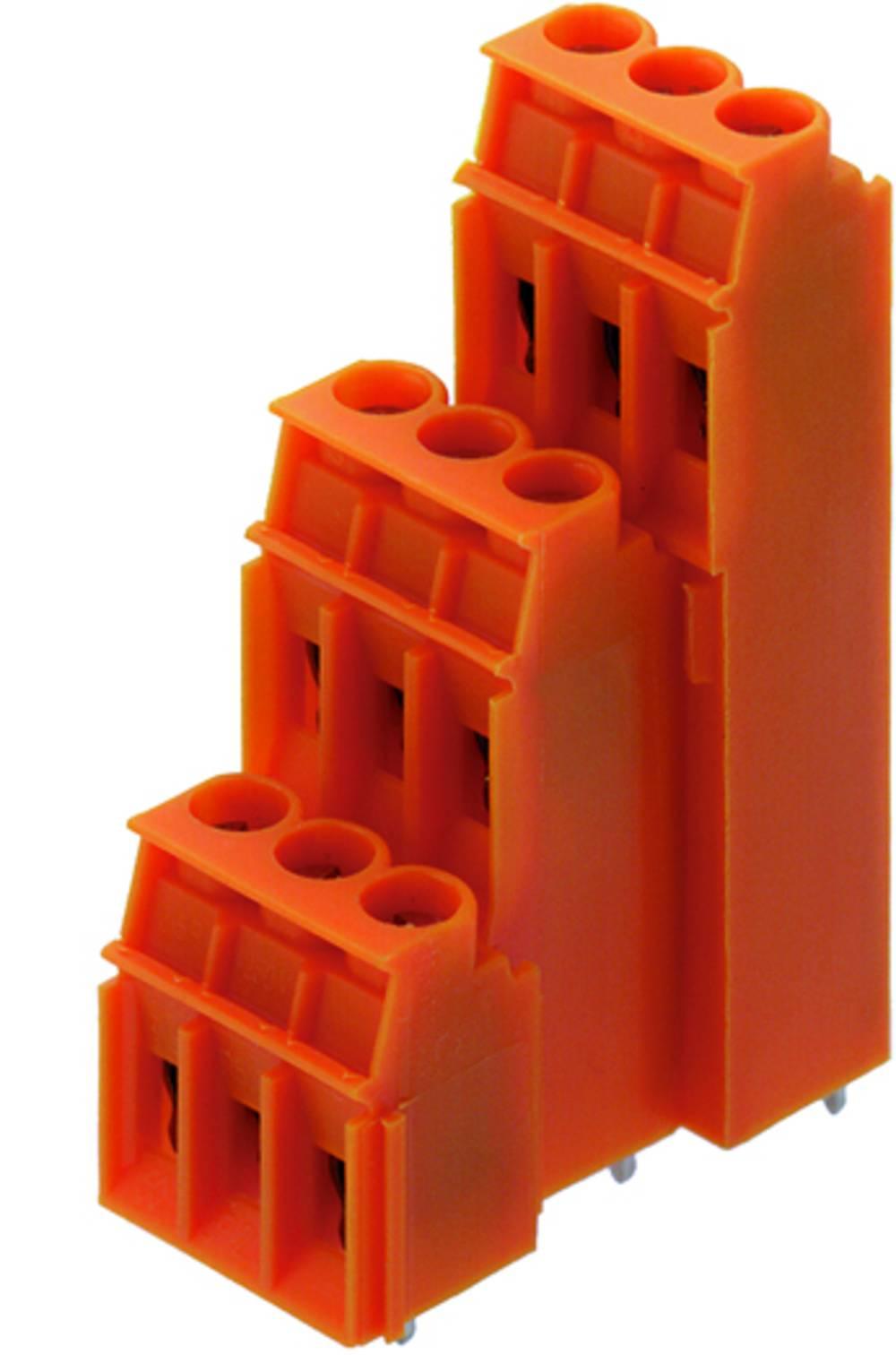 Tre-etagesklemme Weidmüller LP3R 5.08/51/90 3.2SN OR BX 4.00 mm² Poltal 51 Orange 10 stk
