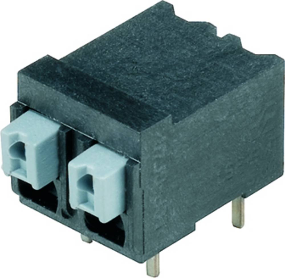 Fjederkraftsklemmeblok Weidmüller LSF-SMT 5.00/02/90 3.5SN BK RL 1.50 mm² Poltal 2 Sort 265 stk