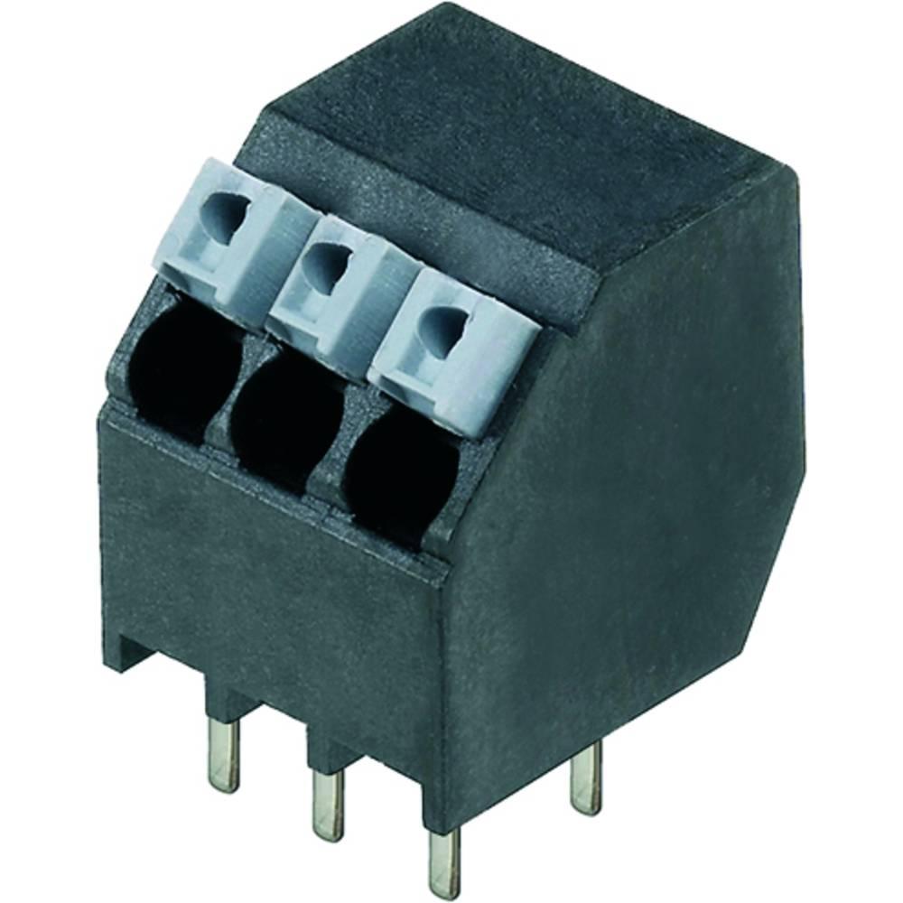 Fjederkraftsklemmeblok Weidmüller LSF-SMT 3.50/04/135 1.5SN BK RL 1.50 mm² Poltal 4 Sort 190 stk
