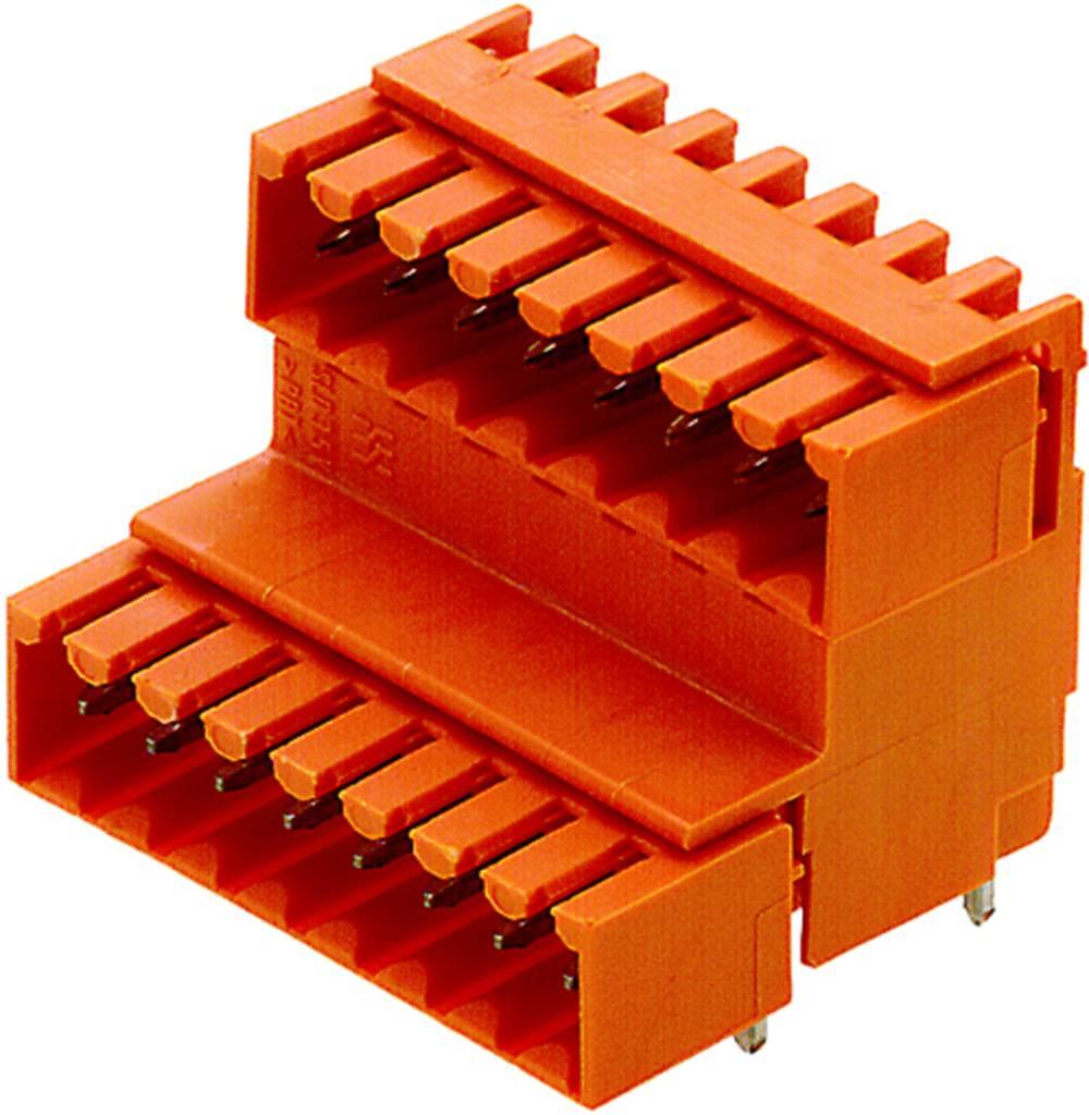 Vtični konektor za tiskana vezja oranžne barve Weidmüller 1890630000 vsebuje: 10 kosov