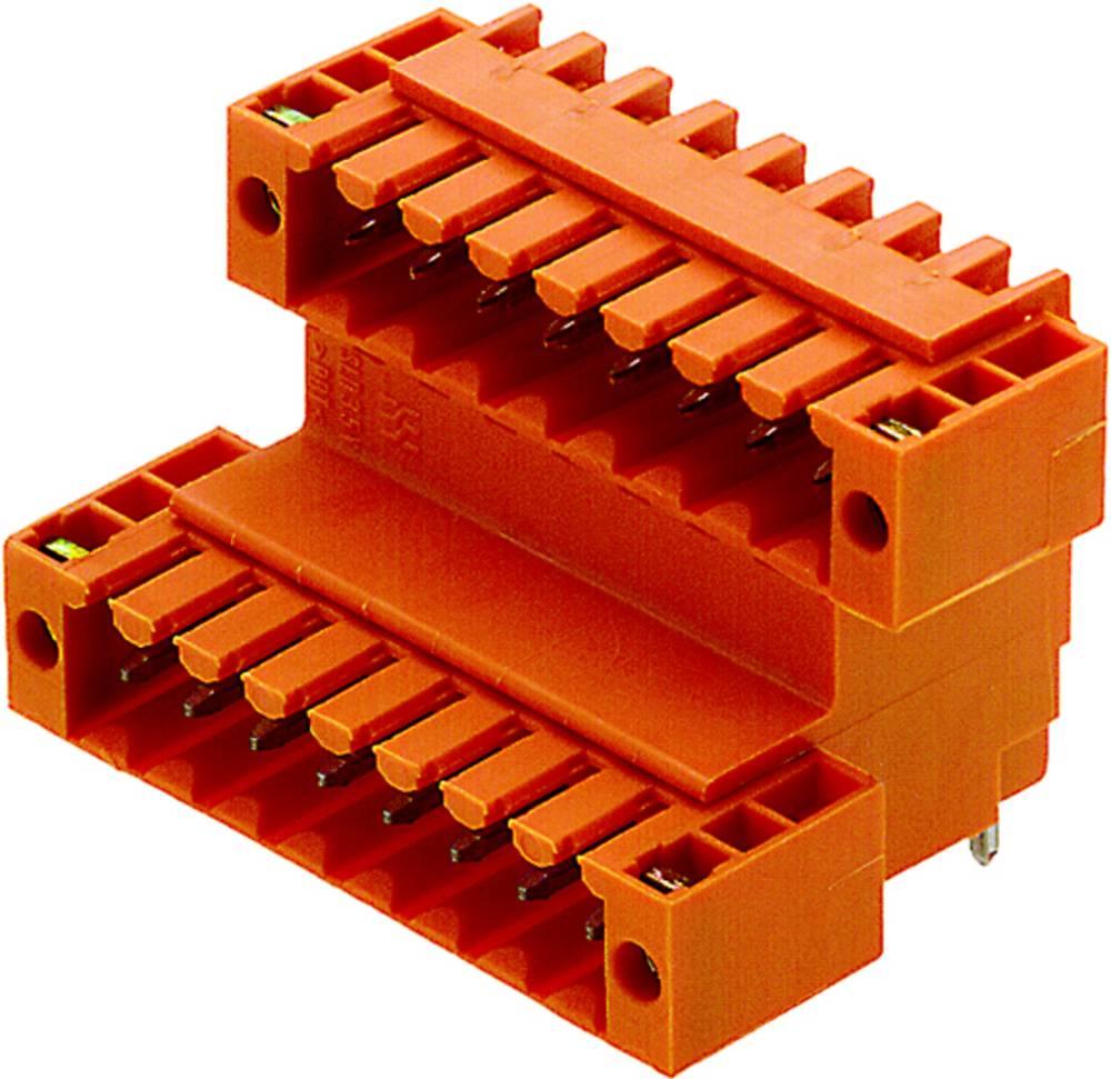 Vtični konektor za tiskana vezja oranžne barve Weidmüller 1890830000 vsebuje: 10 kosov