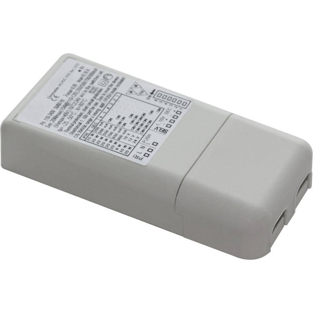 LED pretvornik 900 mA 43 V/DC nastavljiv Barthelme LED pretvornik univerzalni 20W delovna napetost maks.: 264 V/DC, 264 V/AC