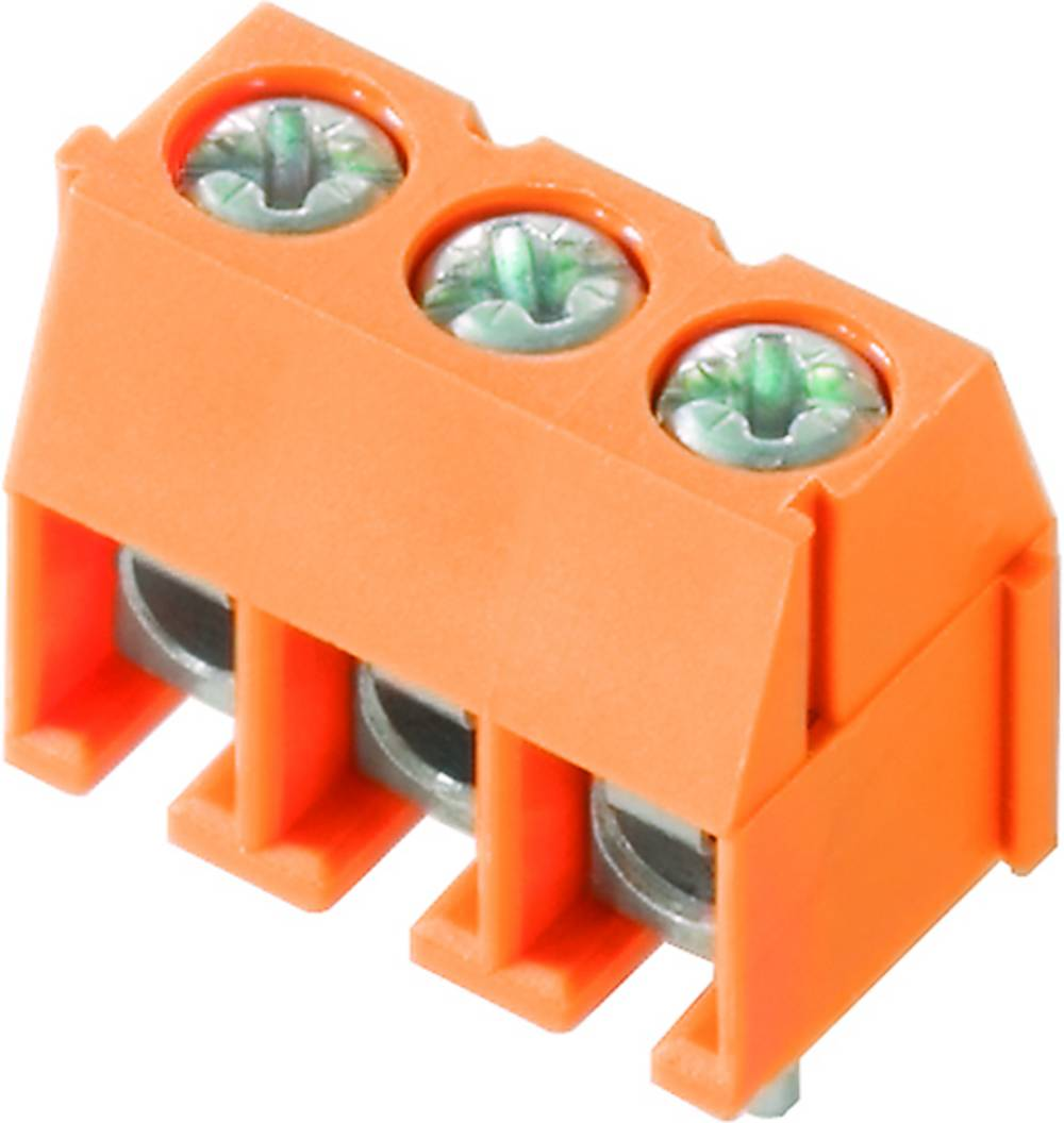 Skrueklemmeblok Weidmüller PS 3.50/03/90 3.5SN OR BX 1.50 mm² Poltal 3 Orange 100 stk