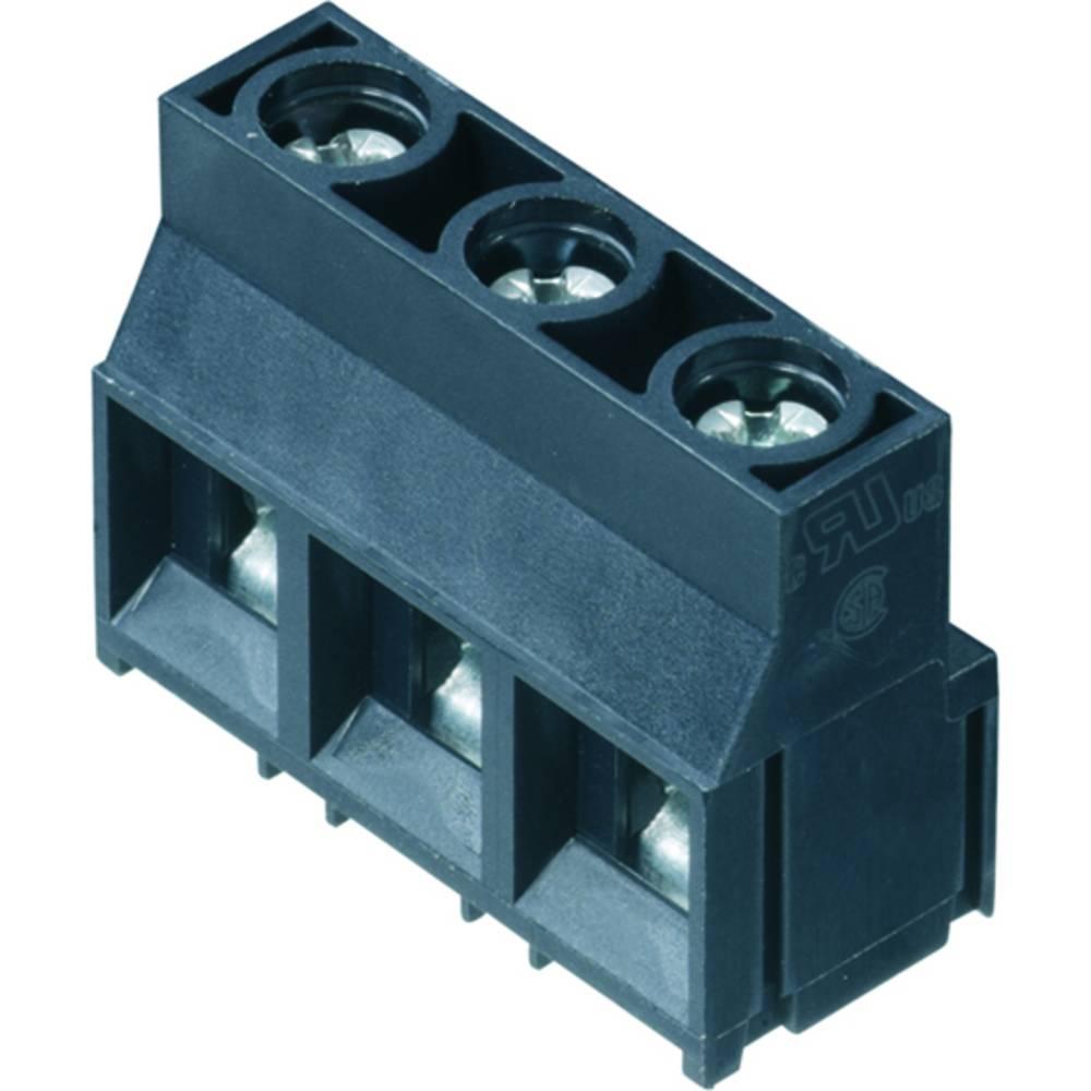 Skrueklemmeblok Weidmüller LL 9.52/03/90 5.0SN GY BX 4.00 mm² Poltal 3 Grå 100 stk