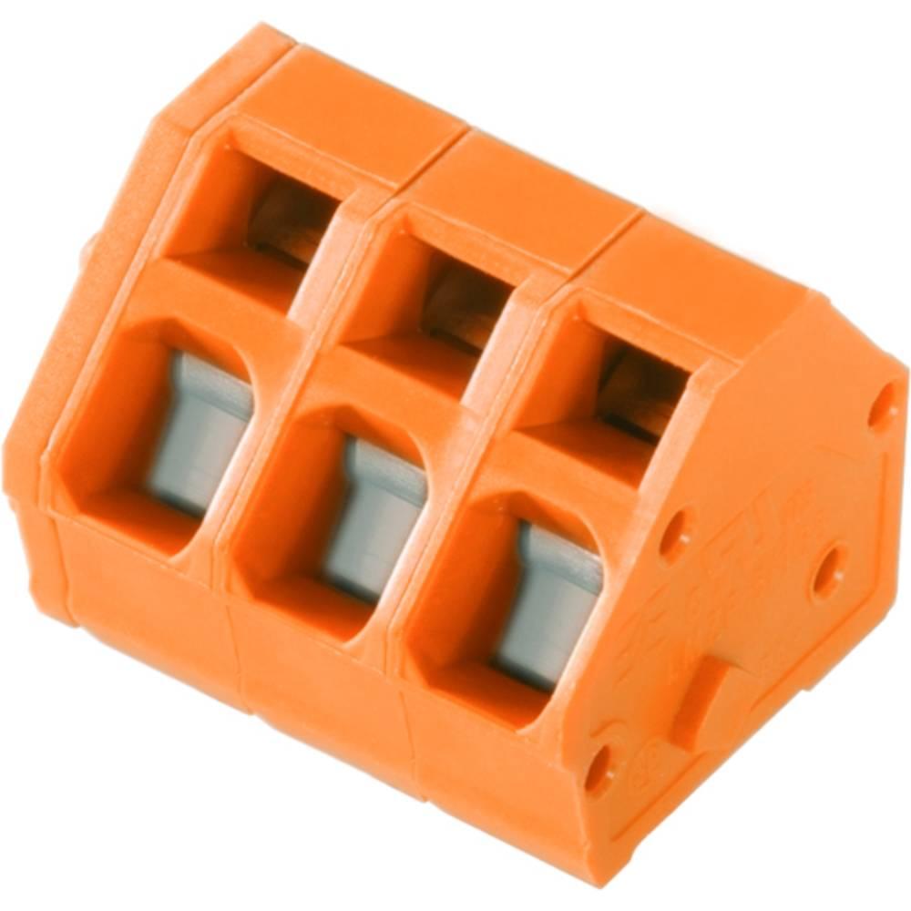 Fjederkraftsklemmeblok Weidmüller LMZF 5/9/135 3.5OR 2.50 mm² Poltal 9 Orange 100 stk