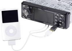 Mini-USB connection cable on iPod/USB