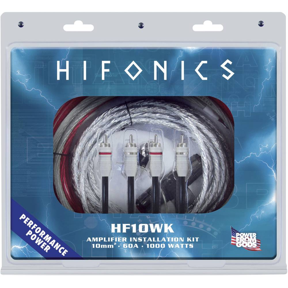 Car stereo headstage amp connector kit 10 mm² Hifonics CR-10WK from ...