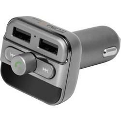 FM-transmitter Technaxx FMT900BT inkl. håndfri funktion, Integreret MP3-afspiller, med ladefunktion til iPhone
