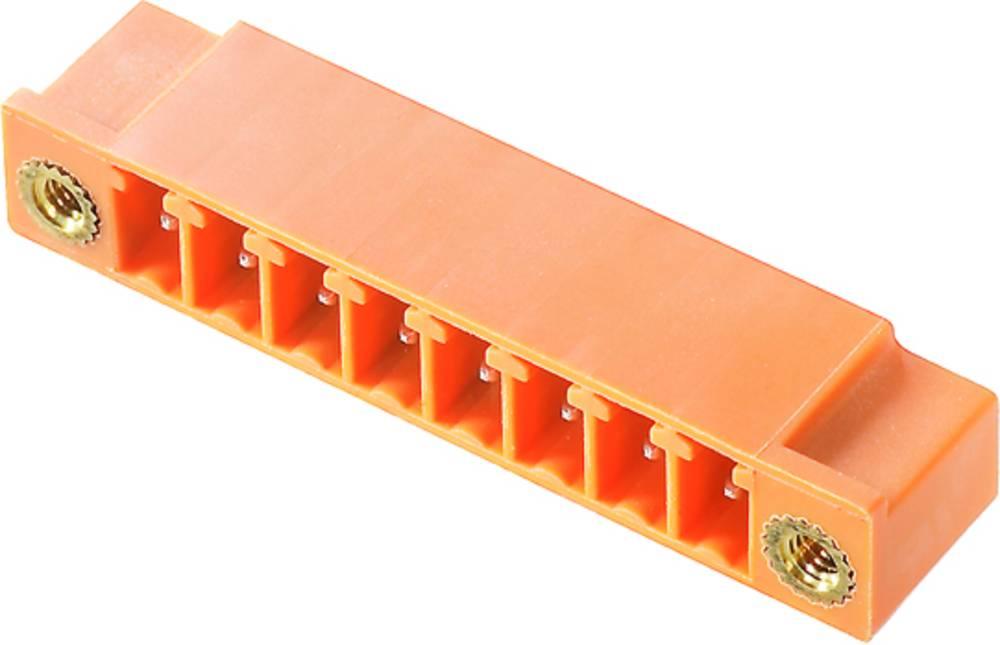 Vtični konektor za tiskana vezja oranžne barve Weidmüller 1942530000 vsebuje: 50 kosov