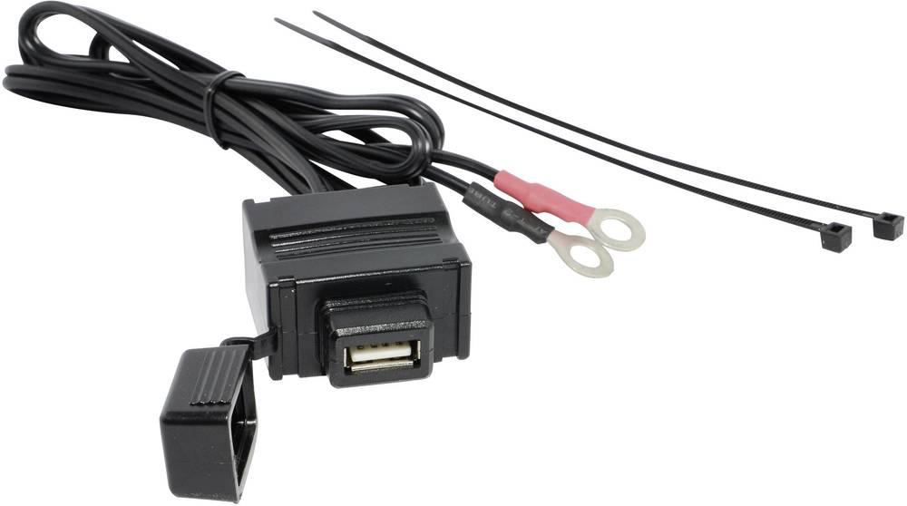 Stikdåse BAAS USB-Steckdose 1A USB2 12 V til 5 V 1 A Ringkablesko