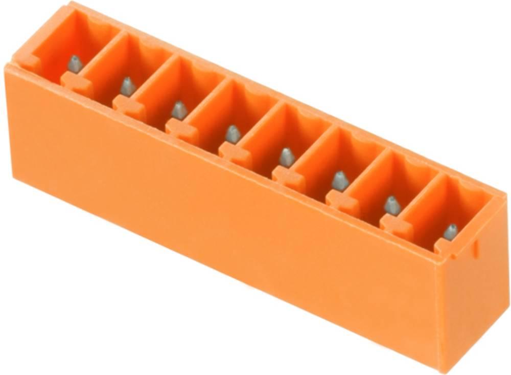 Vtični konektor za tiskana vezja oranžne barve Weidmüller 1942890000 vsebuje: 50 kosov