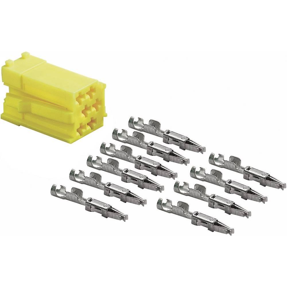 Mini-ISO-stik, gul AIV 56C818 1 Set