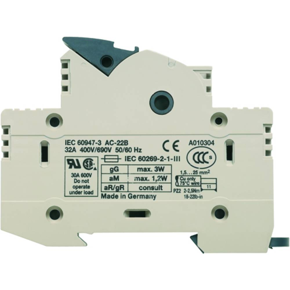 Fuse terminal Weidmüller WSI 25/1 10X38/LED 1966060000 12 stk