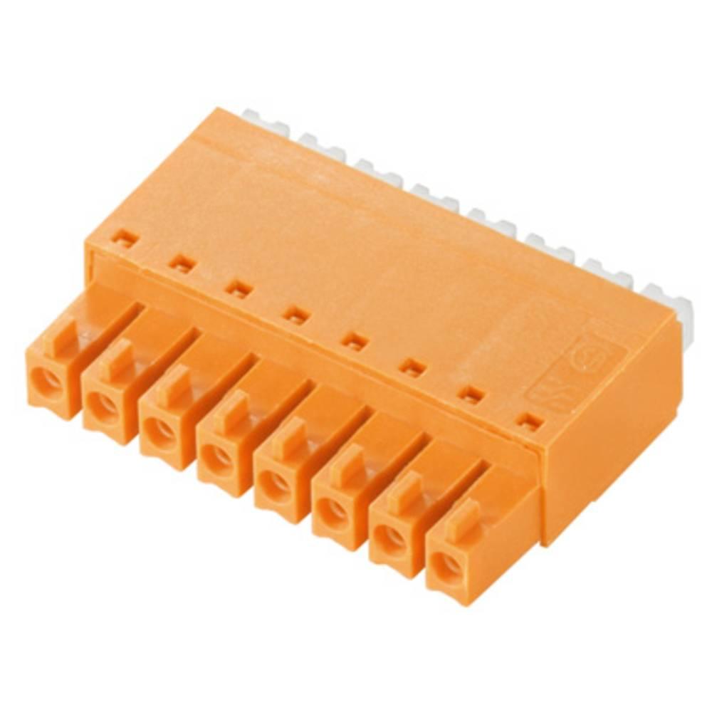 Vtični konektor za tiskana vezja oranžne barve Weidmüller 1969140000 vsebuje: 50 kosov