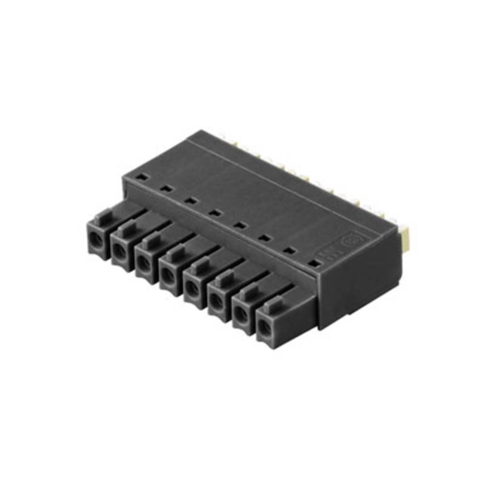 Vtični konektor za tiskana vezja zelene barve Weidmüller 0401031 vsebuje: 50 kosov