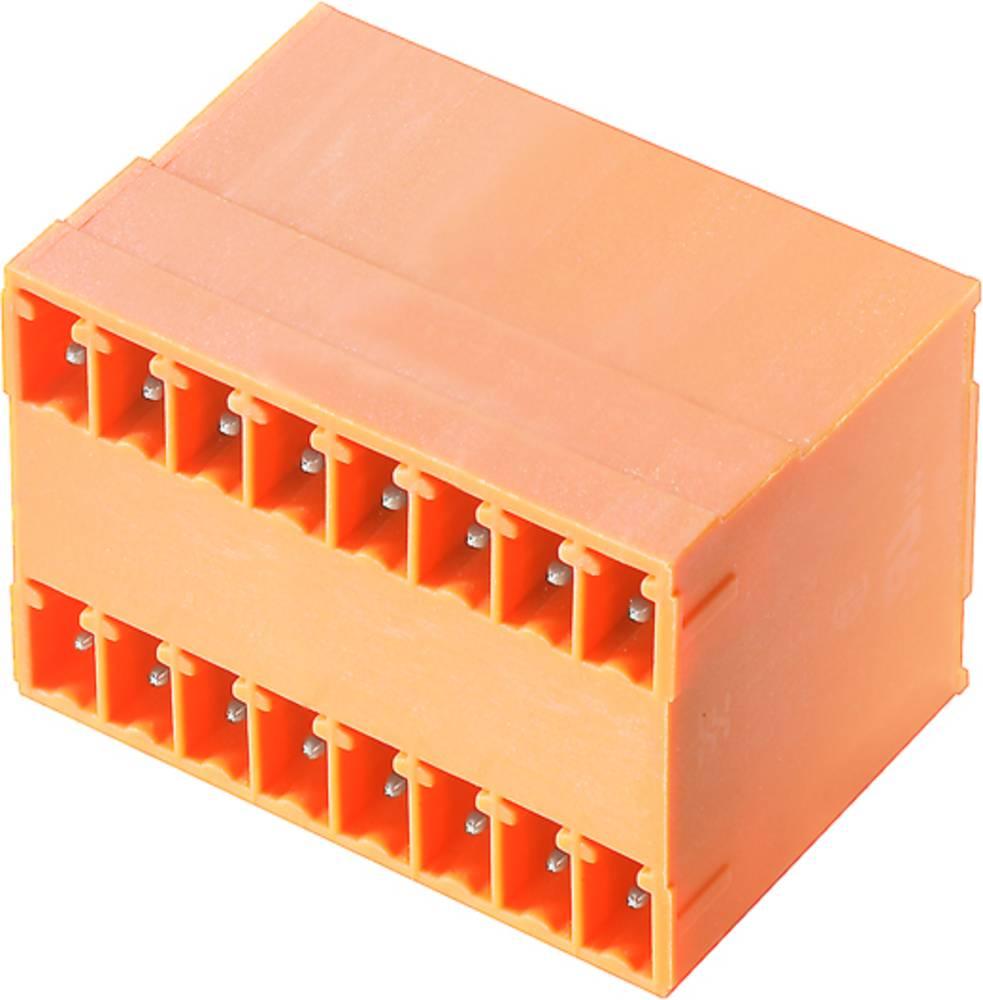 Vtični konektor za tiskana vezja oranžne barve Weidmüller 1972840000 vsebuje: 50 kosov