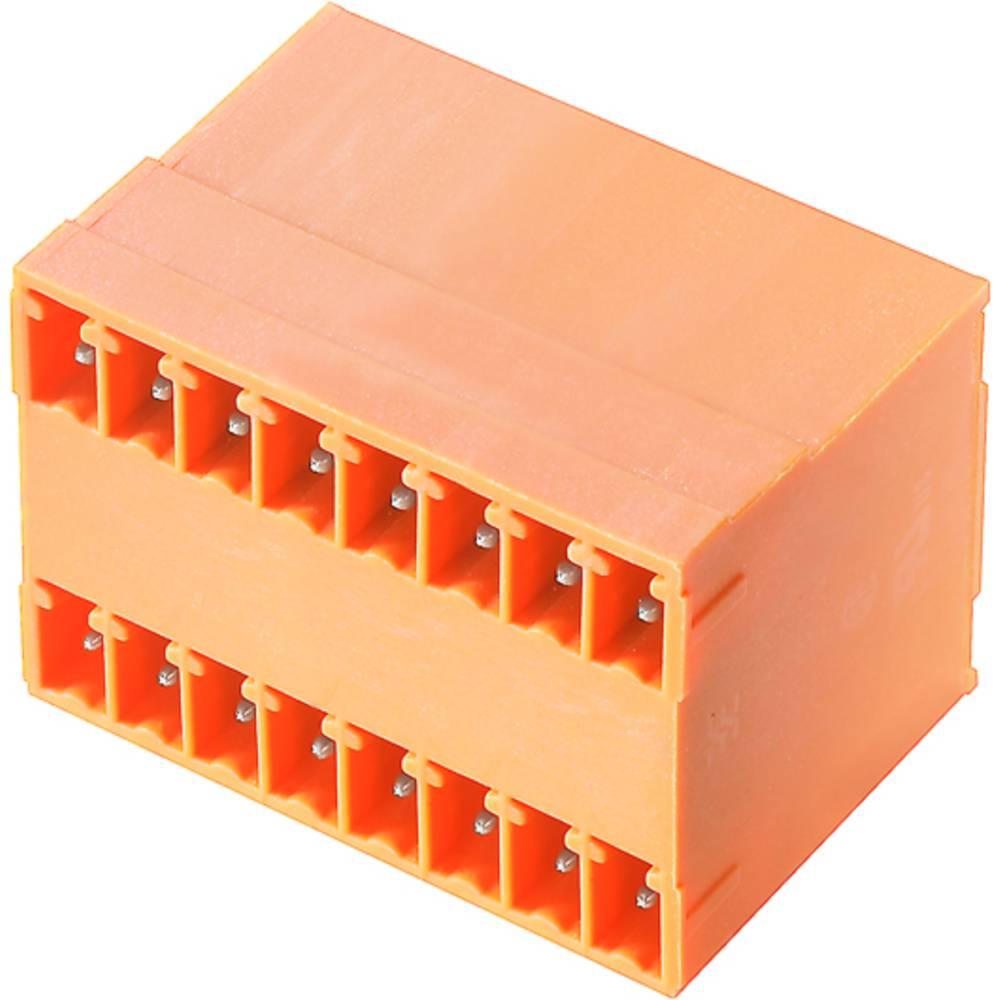 Vtični konektor za tiskana vezja oranžne barve Weidmüller 1972850000 vsebuje: 50 kosov