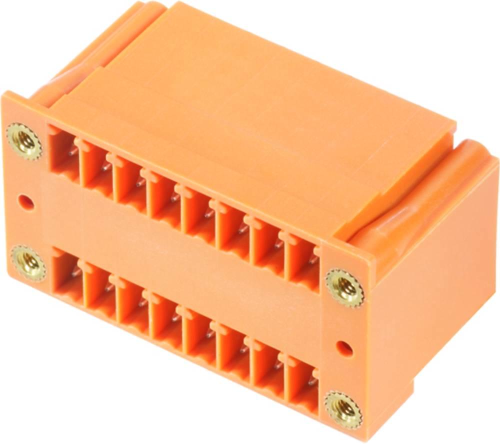 Vtični konektor za tiskana vezja oranžne barve Weidmüller 1973400000 vsebuje: 20 kosov