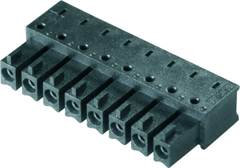 Vtični konektor za tiskana vezja črne barve Weidmüller 1974910000 vsebuje: 50 kosov