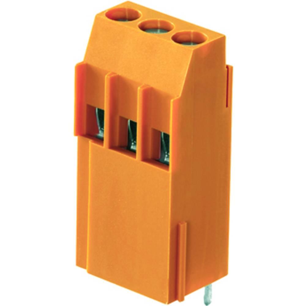 Skrueklemmeblok Weidmüller LL1N 5.00/02/90 3.2SN OR BX 4.00 mm² Poltal 2 Orange 100 stk
