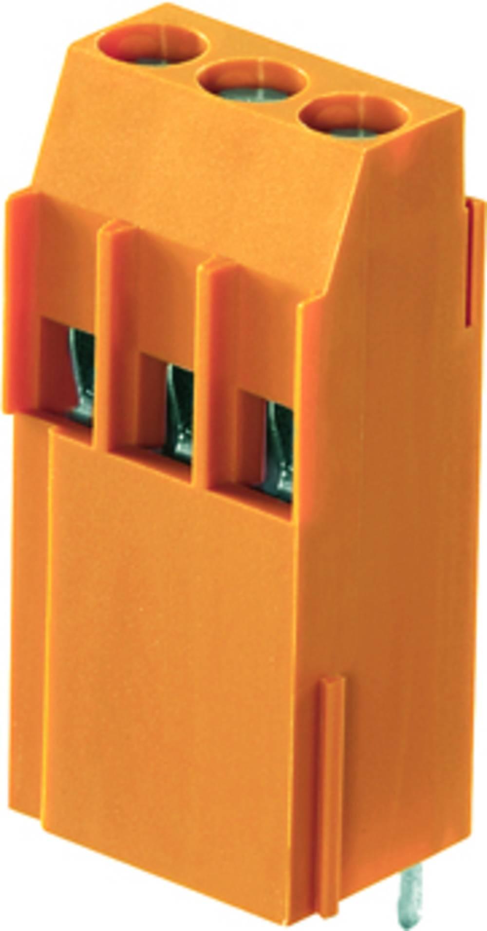 Skrueklemmeblok Weidmüller LL1N 5.00/06/90 3.2SN OR BX 4.00 mm² Poltal 6 Orange 50 stk