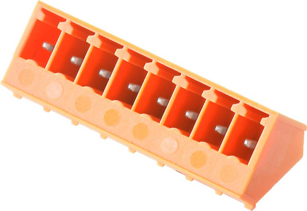 Vtični konektor za tiskana vezja oranžne barve Weidmüller 1975930000 vsebuje: 50 kosov