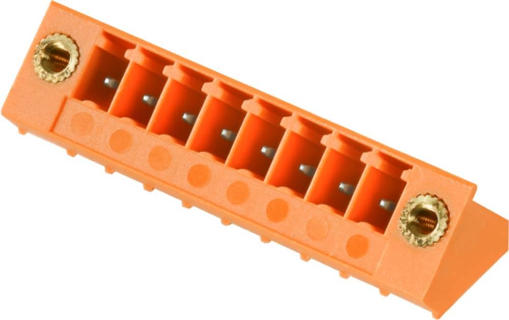 Vtični konektor za tiskana vezja oranžne barve Weidmüller 1 976 750 000 vsebuje: 50 kosov