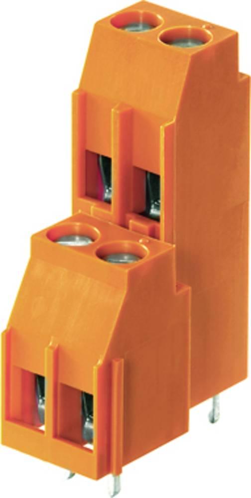 Dobbeltrækkeklemme Weidmüller LL2N 5.00/16/90 3.2SN OR BX 4.00 mm² Poltal 16 Orange 20 stk