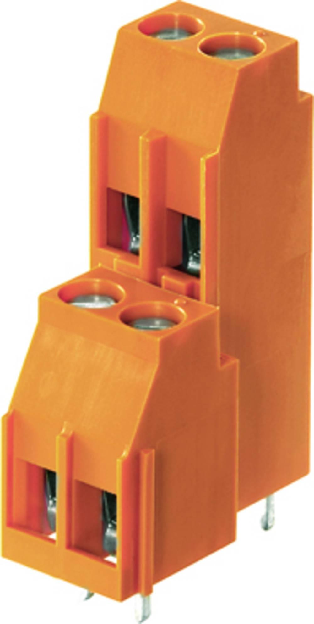 Dobbeltrækkeklemme Weidmüller LL2N 5.08/20/90 3.2SN OR BX 4.00 mm² Poltal 20 Orange 20 stk