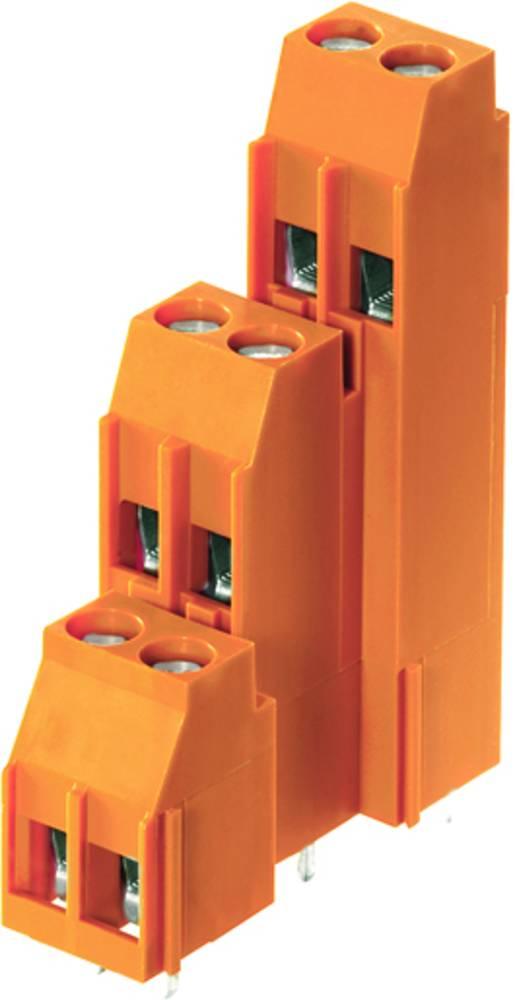 Tre-etagesklemme Weidmüller LL3R 5.00/12/90 3.2SN OR BX 4.00 mm² Poltal 12 Orange 50 stk