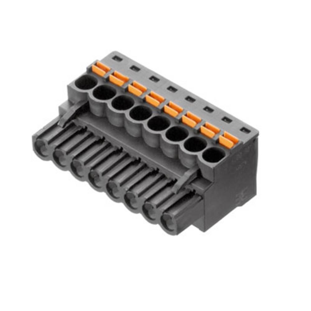 Vtični konektor za tiskana vezja črne barve Weidmüller 1979420000 vsebuje: 18 kosov