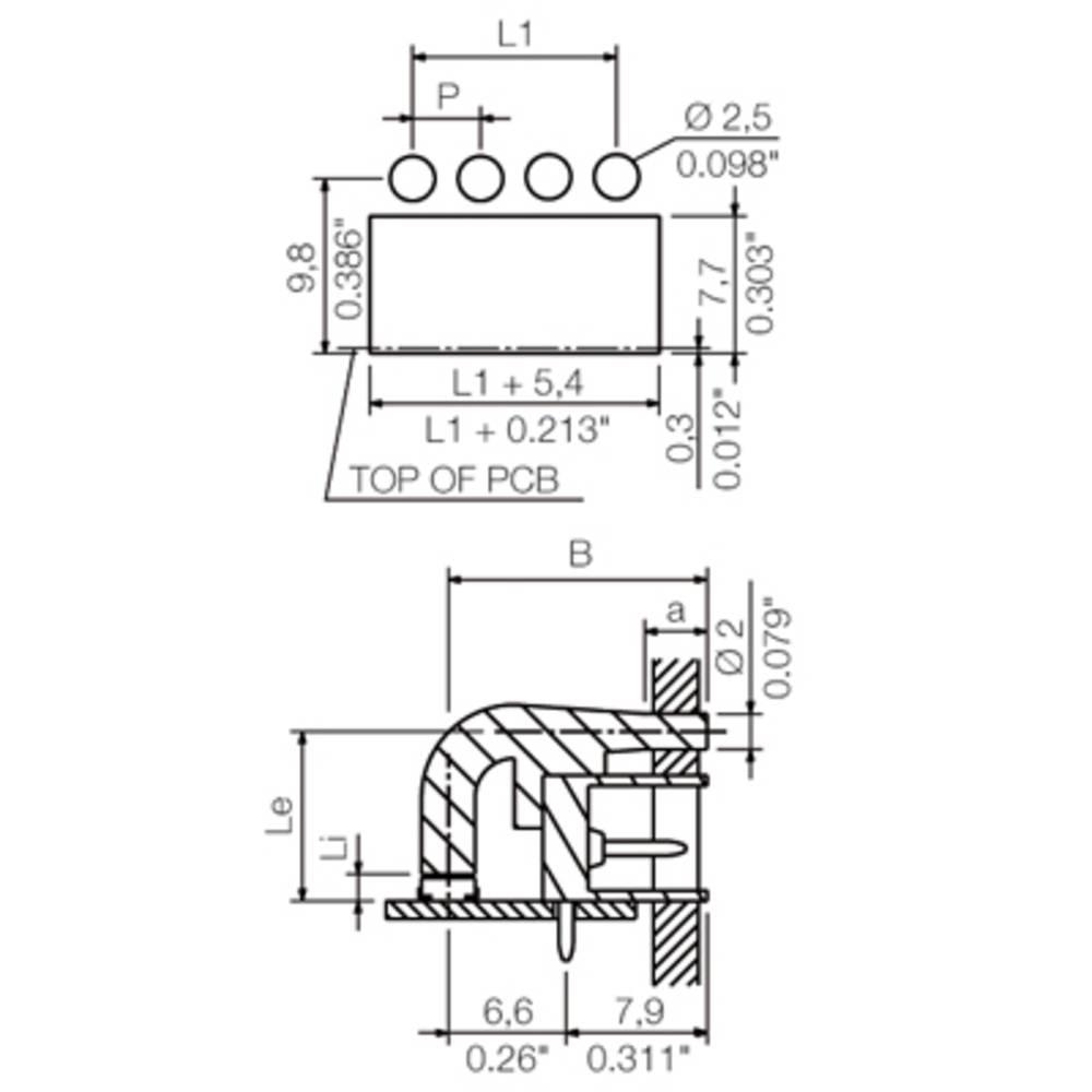PCB-stik Weidmüller SC 3.81 FLA 1.5/14.25 50 stk